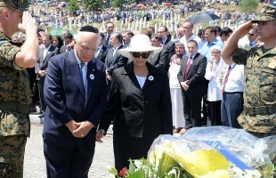 Rabbi Arthur Schneier delivers keynote speech at the Srebrenica Genocide Memorial Center in Potocari