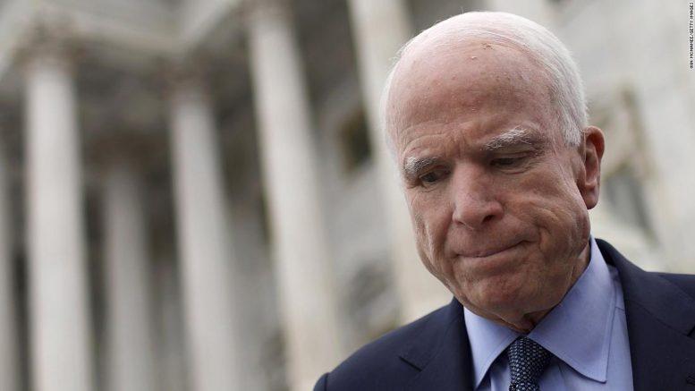 We are deeply saddened by the death of Senator John McCain