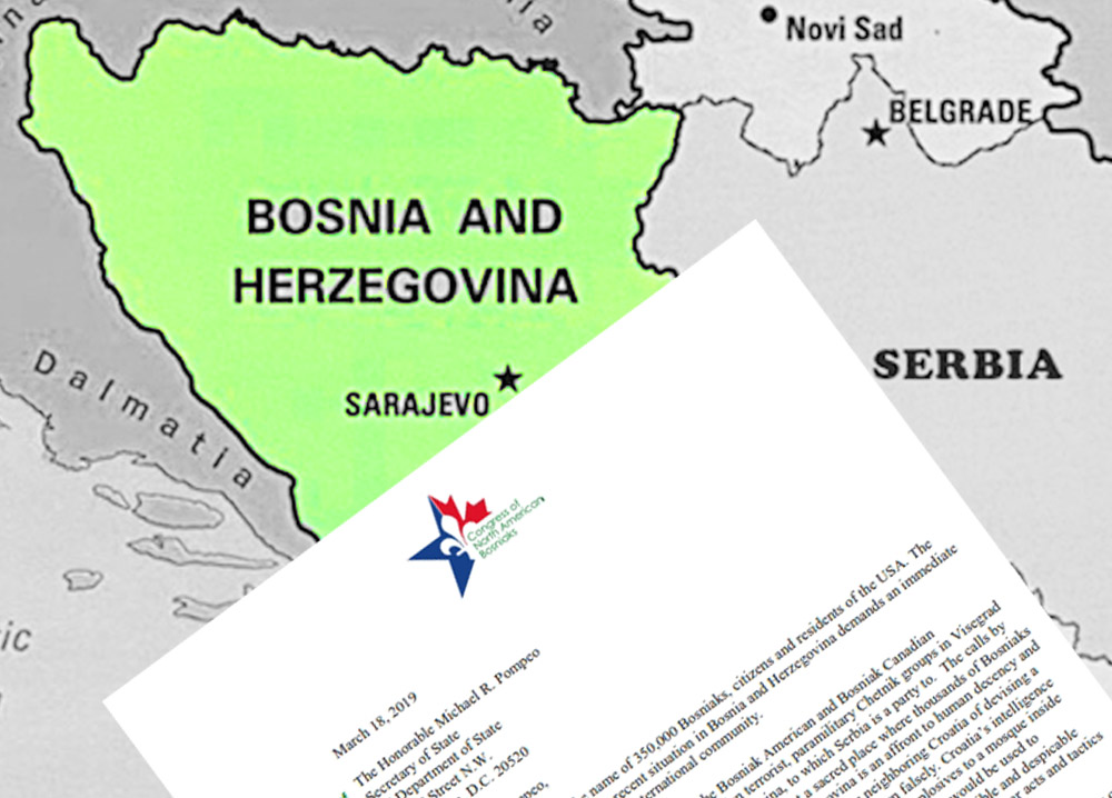 The letter regarding new and alarming incidents in Bosnia and Herzegovina