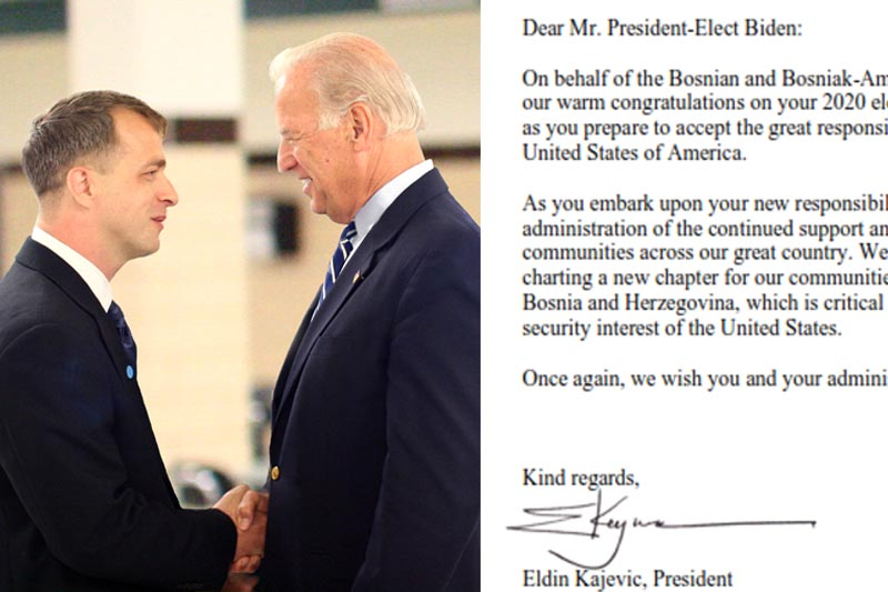 Congratulatory Letter to President-Elect Joe Biden