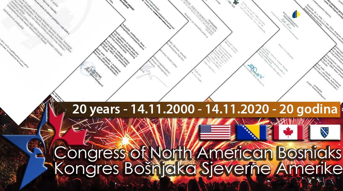 Ugledne ličnosti, institucije i organizacije čestitale KBSA 20 godina postojanja