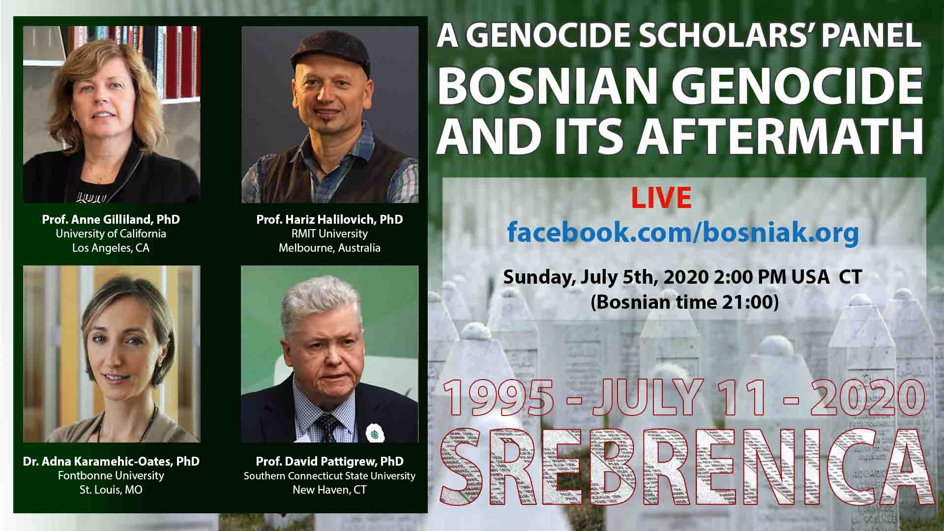 Panel: Bosnian Genocide And Its Aftermath